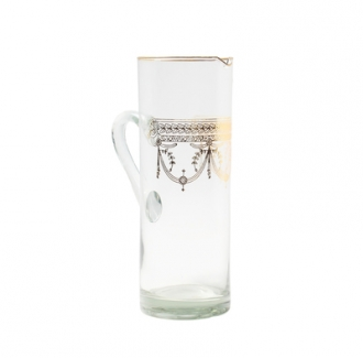 Pitcher With Rich Gold Design- Dishwashing Safe