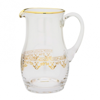 Water Pitcher with Rich 14K Gold Atywork