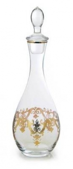 Wine Decanter with 24k Gold Artwork