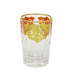 Set of 6 Tea Glasses with Rich gold design