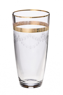 Set of 6 Tumblers with 14K Gold Artwork