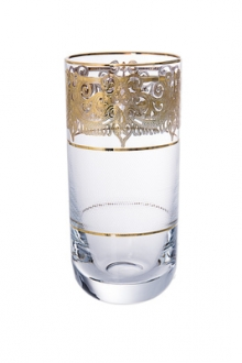 Set of 6 Tumblers with 24K Gold Artwork
