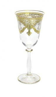 Set of 6 Water Glasses with 24K Gold design