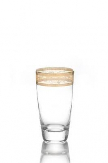Tumblers with Amber Gold Design-Set/6