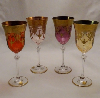 Venetian Medici Collection Wine Goblets Multi (set of 4)
