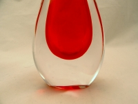Murano Glass Vase Red