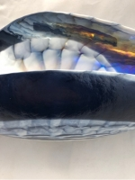 Navy Blue/Mother of Pearl  Murano Glass Laguna Centerpiece