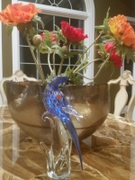 Murano Glass Silver/Cobalt Blue Bird