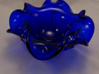 Large Royal Blue Murano Glass Bowl