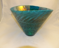 Murano Glass Tall Emerald Bowl