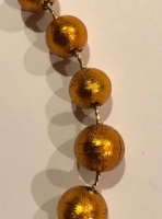 Murano Glass Necklace Amber