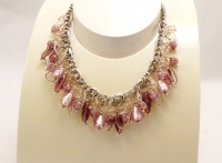 Murano Glass Necklace Pink