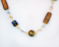 Beaded murano glass necklace Romantica