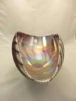 Murano Glass Ivory Plum Bowl Shell