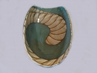 Murano glass mother of pearl and turquoise bowl