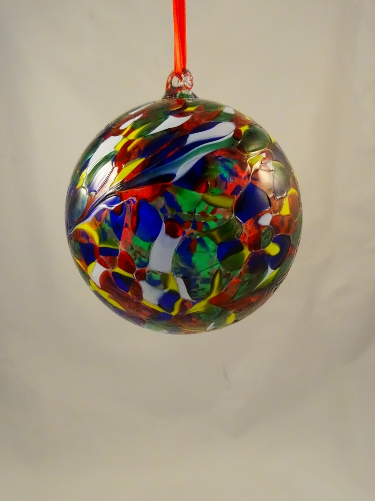Multicolor Christmas tree ball