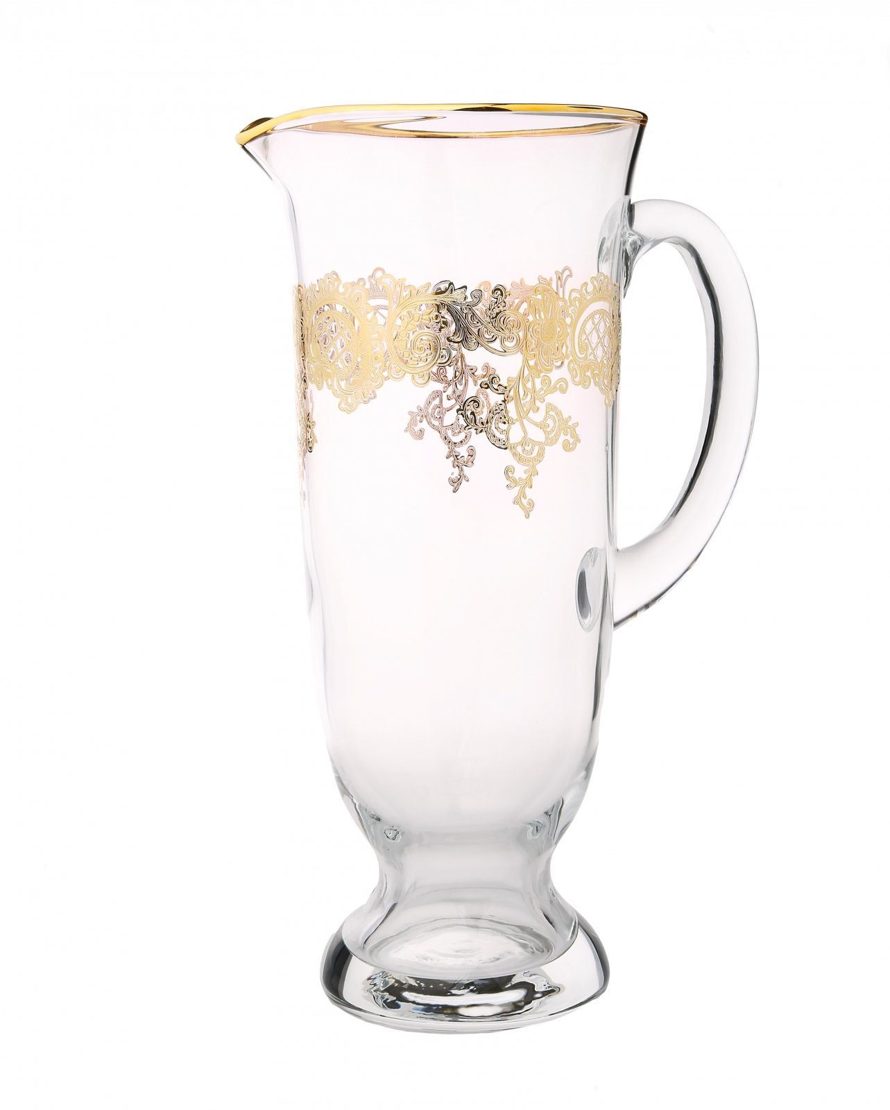 Water Pitcher with 24k Rich Gold Design