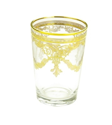 Set of 6 Tumblers with 24K Gold Design