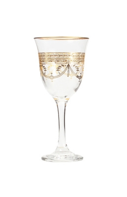 Set of 6 Water Glasses With Rich Gold Design- Dishwashing Safe