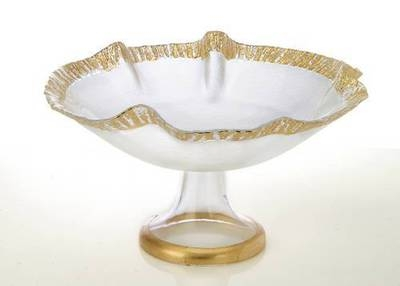 12 Scalloped Bowl with Gold