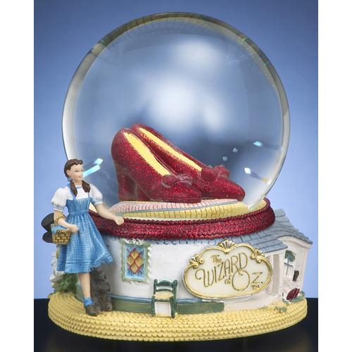 Oz 'Ruby Slippers' Water Globe with Sculpted Jewelry Music Box