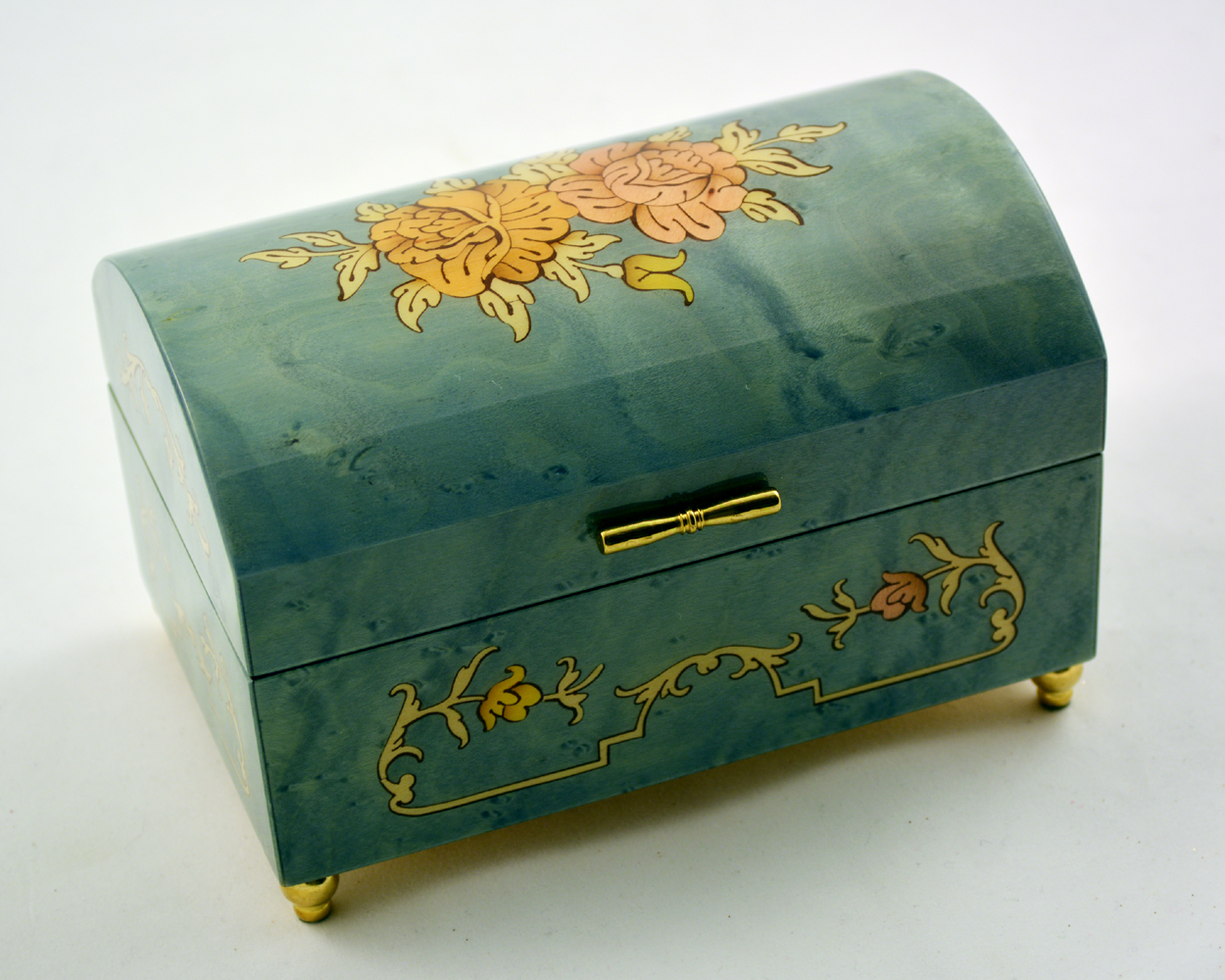 Sky blue Music Jewelry Box