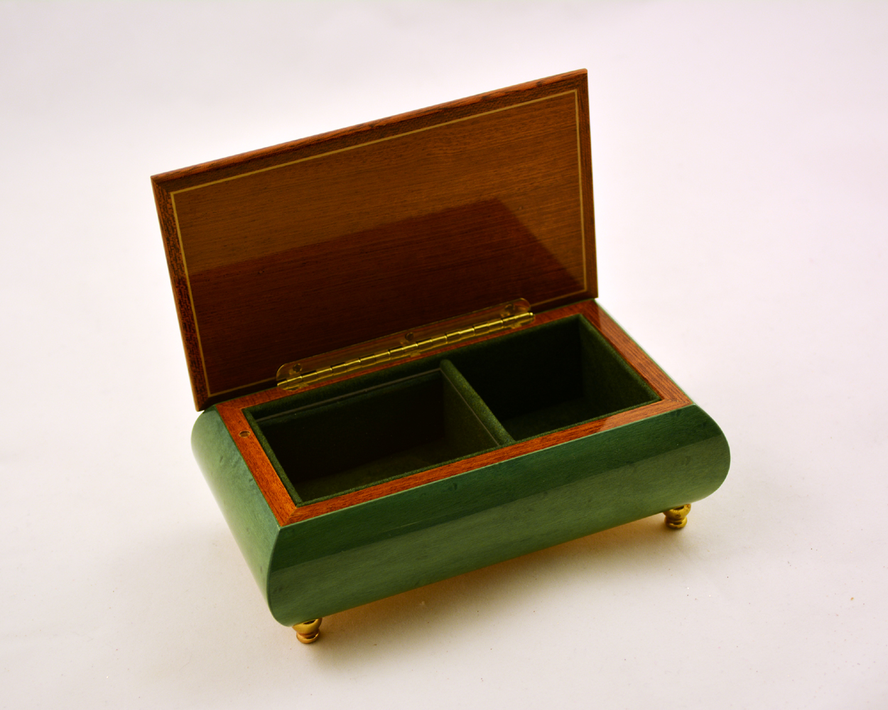 Green High Gloss Golf Theme jewejry Box