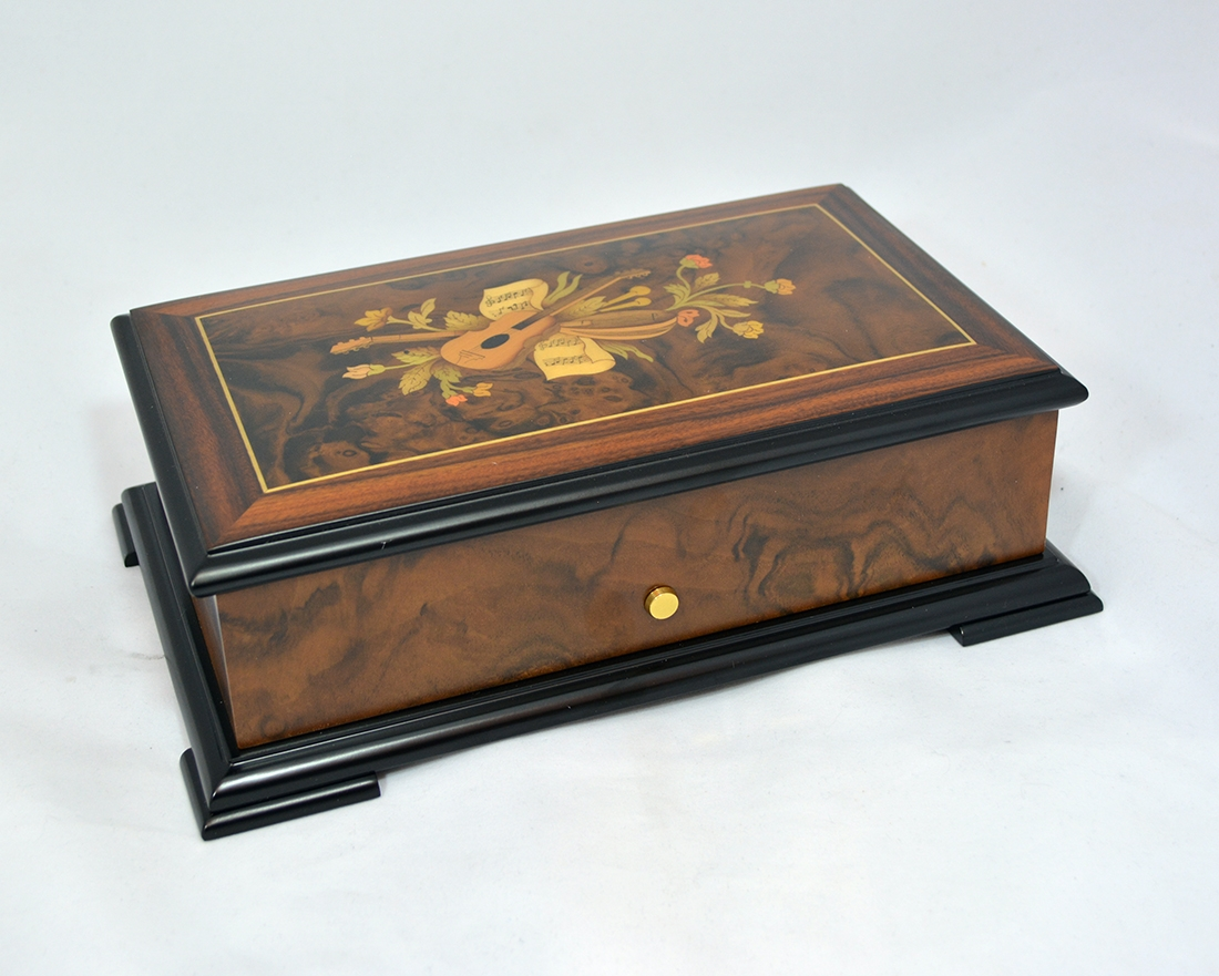 Floral Design Luxury Music Box Sorrento Music Boxes