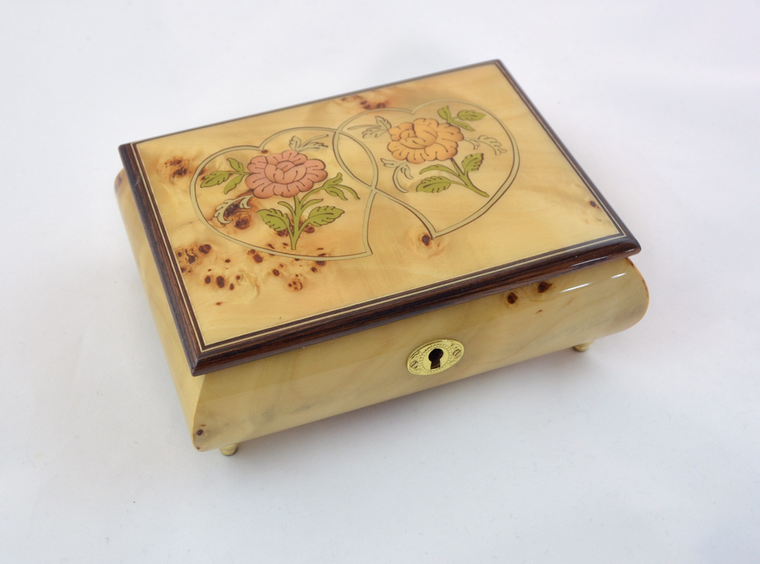 Bird's eye Heart Duo romantic music box