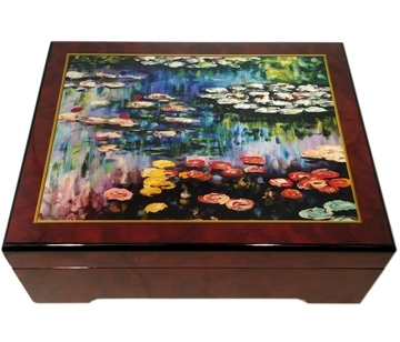 Monet Water Lilies Waltz of the Flowers - Musical Jewelry Box