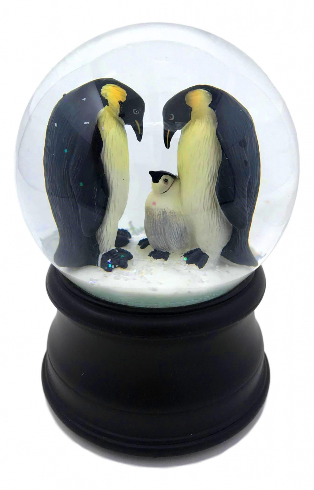 Penguin with Chick Snow Globe