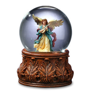 Angel Playing Mandolin Water Globe