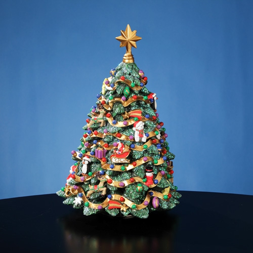 jingle bell rotating christmas tree figurine jingle bell rotating christmas tree figurine