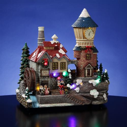 Santa S Animated Clocktower Village Unique Collectible