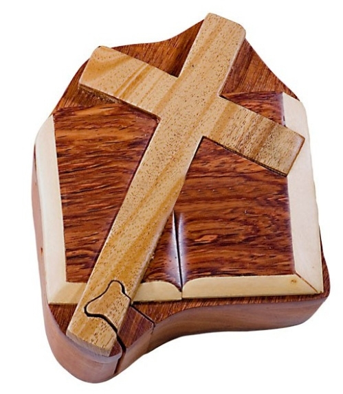 Cross & Bible puzzle box