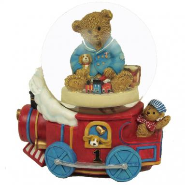 Musical Theady Bears Designed By Adrienne Samuelson. Littlest Conductor Water Globe