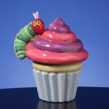 Caterpillar on Cupcake Rotating FIG