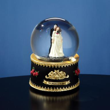 Phantom & Christine Rotating Water Globe