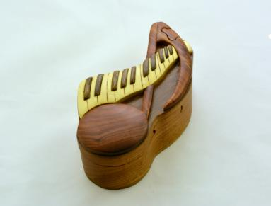 Piano key puzzle box