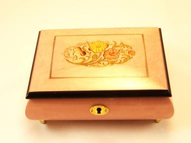 Floral High Gloss Jewelry Music Box