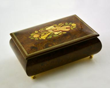High Gloss Music Box with Musical Theme inlays