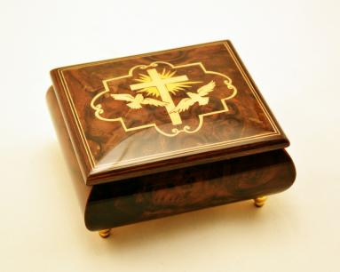 Music Box with Crucifix with two Doves