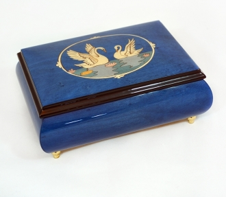 Two Swans Jewelry Music Box