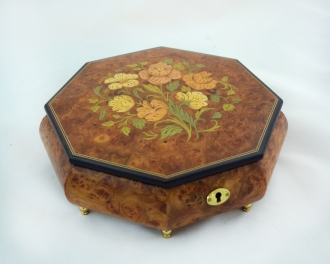 Octagonal Matte  Large Jewelry Box