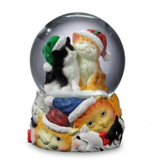 Christmas Cats Snow Globe