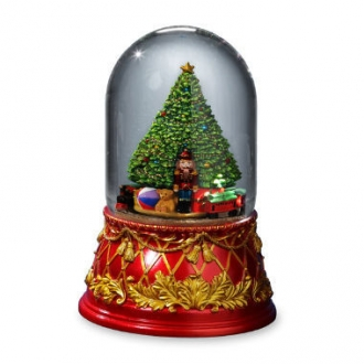 Nutcracker Tree 120mm Domed Water Globe