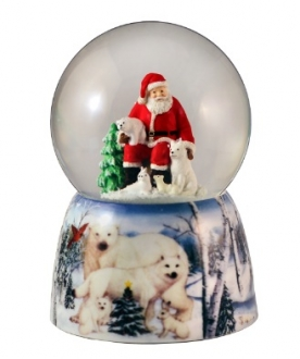Santa w/Polar Bears 80mm WG