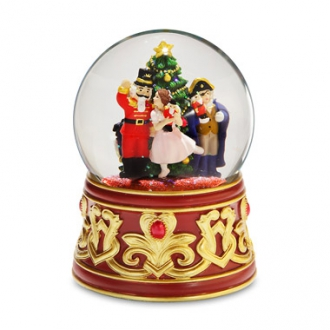 Nutcracker w/Jeweled Base Water Globe