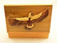Bald eagle cigar box