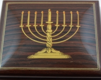 Sorrento High Gloss music box with menorah inlay